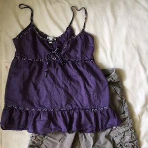 [ American Eagle Purple Spaghetti Strap Top ] 2